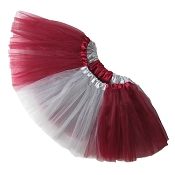 Girls to Plus Size Team Spirit Tutu BURGUNDY GREY